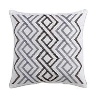 VCNY Wanderlust Embroidered Throw Pillow