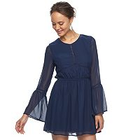 Juniors' Speechless Bell Sleeve Skater Dress