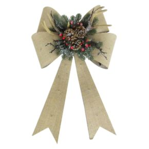 St. Nicholas Square® Light-Up Artificial Antler Bow Wall Decor