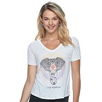 Juniors' Fifth Sun Boho Elephant Graphic Tee