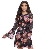 Juniors' Speechless Floral Bell Sleeve Dress