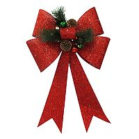 St. Nicholas Square® Light-Up Red Christmas Bow Wall Decor