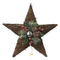 St. Nicholas Square® Light-Up Grapevine Star Wall Decor