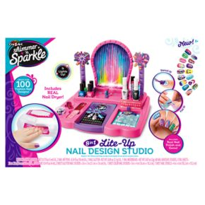Cra-Z-Art Shimmer n' Sparkle Super Nail Salon and Manicure Magic Combo Set