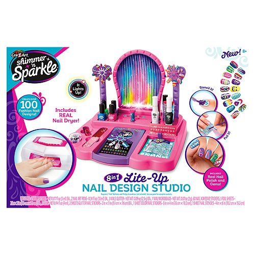 Cra-Z-Art Shimmer n' Sparkle Super Nail Salon and Manicure Magic Combo Set