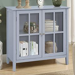 2-Door Window Pane Storage Cabinet