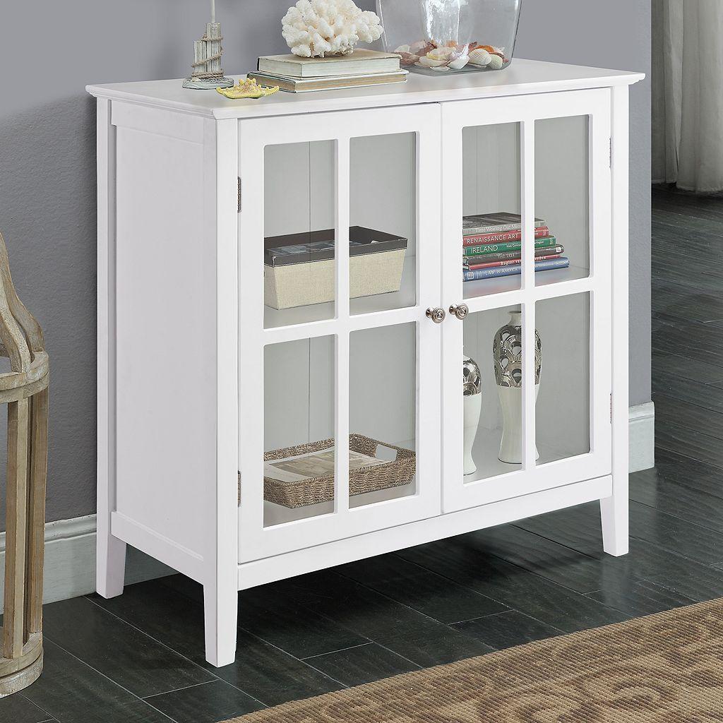 2-Door Window Pane Storage Cabinet