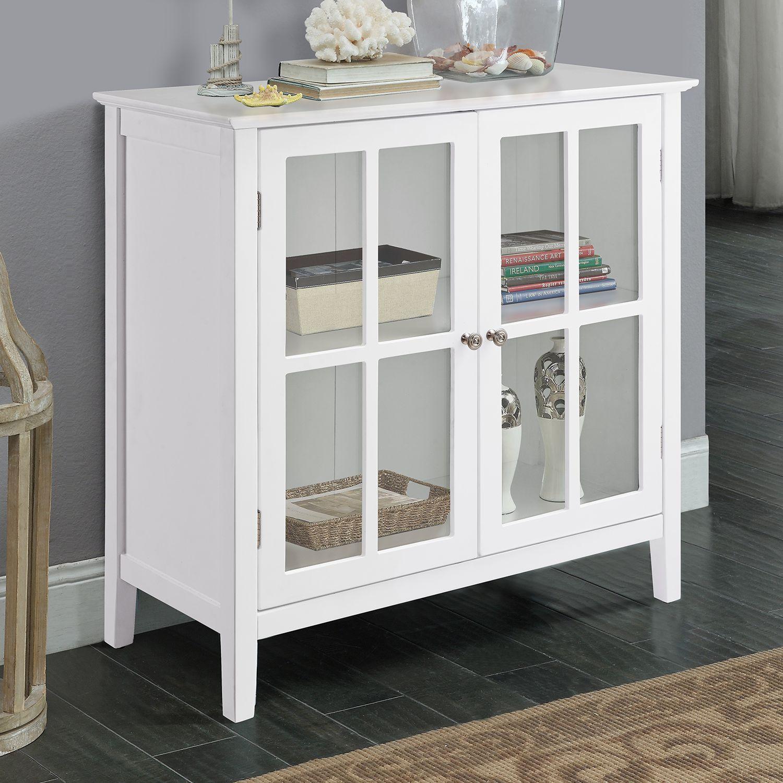 2 Door Window Pane Storage Cabinet