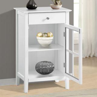 1-Drawer Window Pane Storage Cabinet
