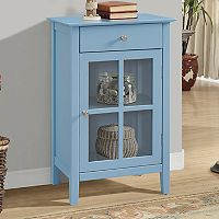 1-Drawer Window Pane Storage Cabinet