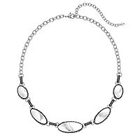 Napier Graduated Oval Link Necklace