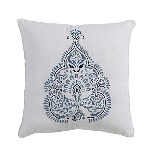 VCNY Andros Embroidered Throw Pillow