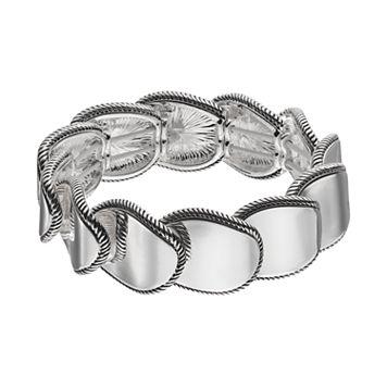 Napier Overlapping Oval Link Stretch Bracelet