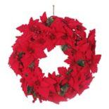 St. Nicholas Square® Artificial Poinsettia Wreath