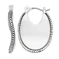 Napier Wavy Cutout Oval Hoop Earrings