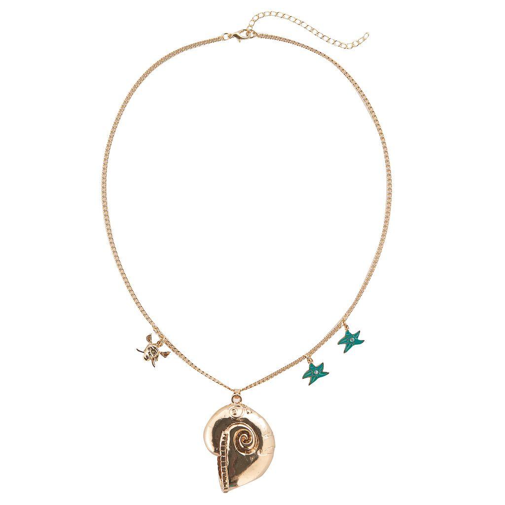 Disney's Descendants 2 Uma Girls 4-16 Shell Pendant Necklace