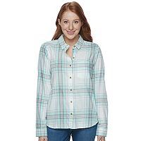 Juniors' SO® Pocket Plaid Flannel Shirt