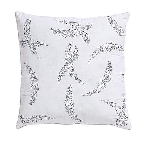 VCNY Feathers Metallic Throw Pillow