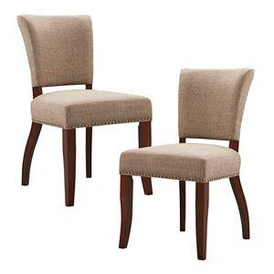 Madison Park Parler Armless Dining Chair 2-piece Set