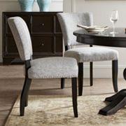 Madison Park Parler Armless Dining Chair 2 pc Set