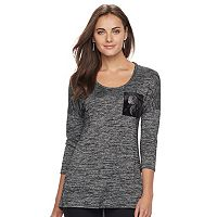 Women's Apt. 9® Embellished Scoopneck Tunic Tee