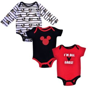 "Disney's Mickey Mouse Baby Boy 3-pc. ""I'm All Ears"" Bodysuit Set"
