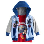 Disney's Mickey Mouse Baby Boy Zip Hoodie & Long Sleeve Tee Set