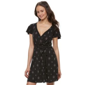 Juniors' Mudd® Faux-Wrap Dress