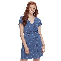 Juniors' Mudd® Faux-Wrap Dress