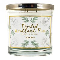 SONOMA Goods for Life™ 14-oz. Frosted Woodland Pine Candle Jar