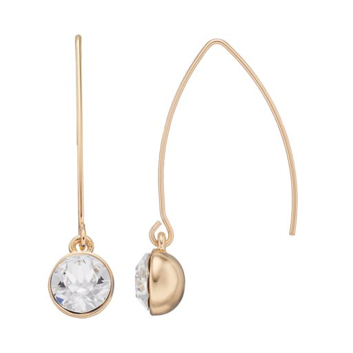 Dana Buchman Circle Drop Threader Earrings