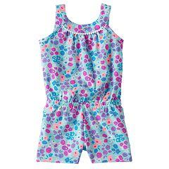 Baby Girl Jumping Beans® Print Pom-Neck Romper