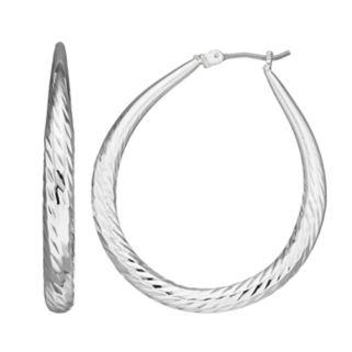Dana Buchman Twisted Texture Hoop Earrings