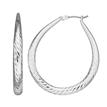 Dana Buchman Twisted Texture Hoop Earrings