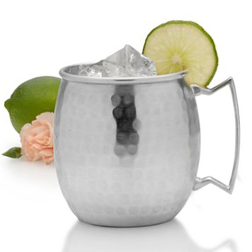 Mikasa Hammered Silver-Plated Moscow Mule Mug