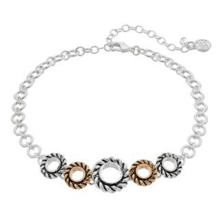 Dana Buchman Two Tone Twisted Round Link Choker Necklace