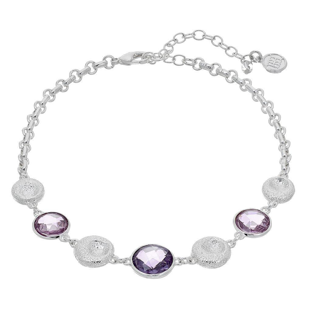 Dana Buchman Faceted Purple Stone Choker Necklace