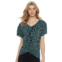 Women's Dana Buchman Twist-Front Top