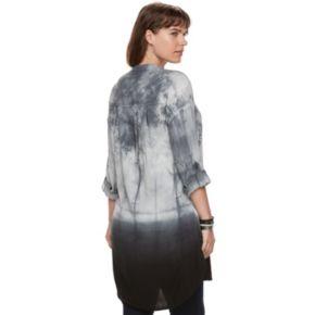Plus Size Rock & Republic® Tie-Dye High-Low Tunic
