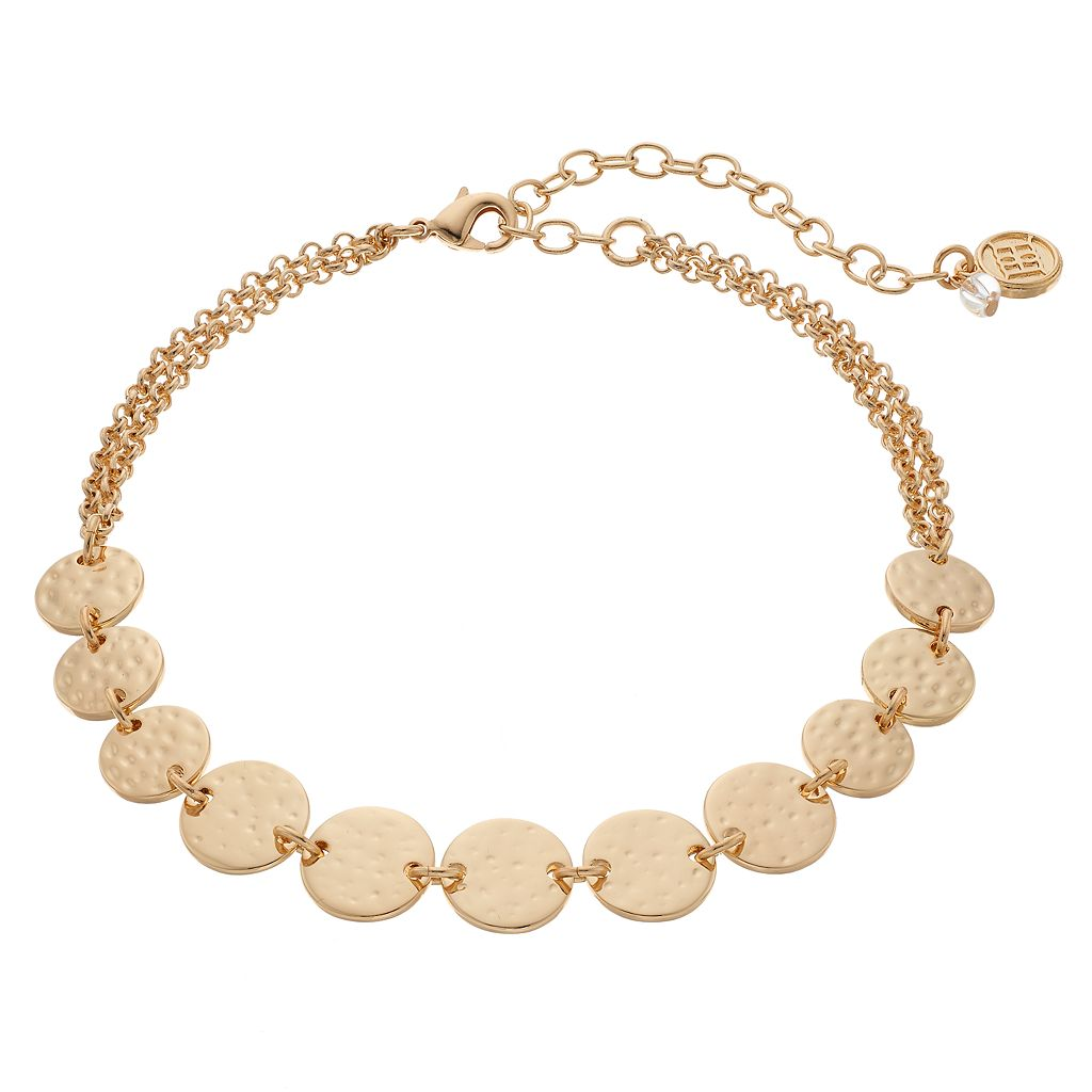 Dana Buchman Hammered Disc Choker Necklace
