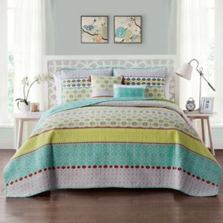 VCNY Dharma Embellished Quilt Set