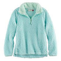 Girls 7-16 & Plus Size SO® 1/4-Zip Sherpa Pullover
