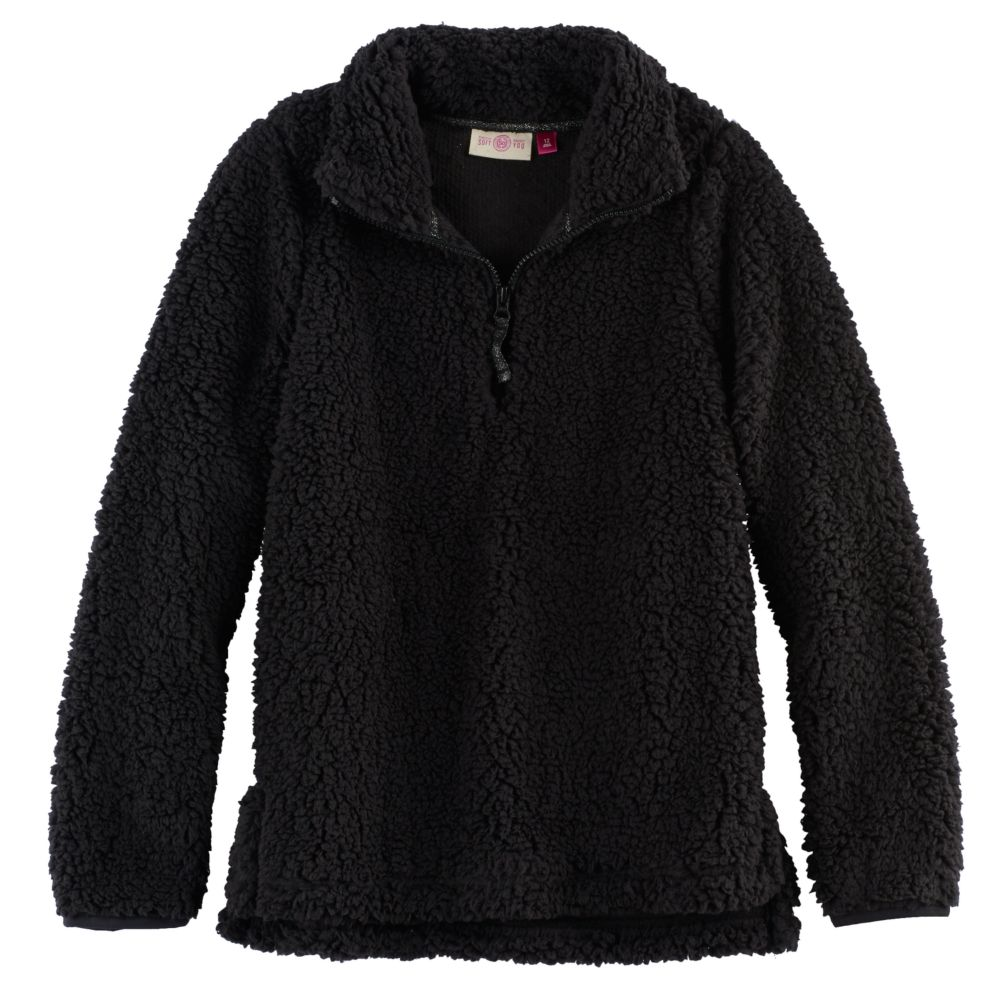 7-16 & Plus Size SO® 1/4-Zip Sherpa Pullover
