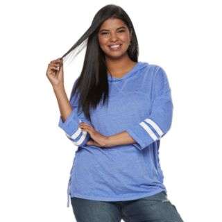 Juniors' Plus Size SO® Perfectly Soft Lace-Up Hoodie