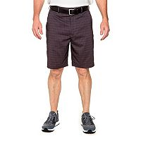 Men's Pebble Beach Classic-Fit Plaid Marled Performance Tech Shorts