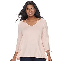 Juniors' Plus Size SO® Strappy Swing Tee