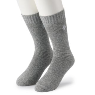 Extended Size Columbia 2-pack Brushed Fleece Crew Socks