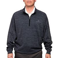 Men's Pebble Beach Classic-Fit Heathered Quarter-Zip Performance Golf Pullover Sweater