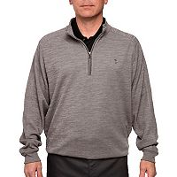 Men's Pebble Beach Classic-Fit Heathered Quarter-Zip Performance Golf Pullover Sweater