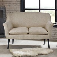 Madison Park Stinson Rolled Arm Settee Loveseat